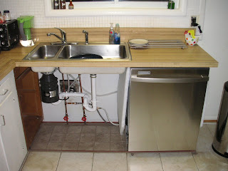 How to Install a New Sink, Tile, Garbage Disposal and Dishwahser