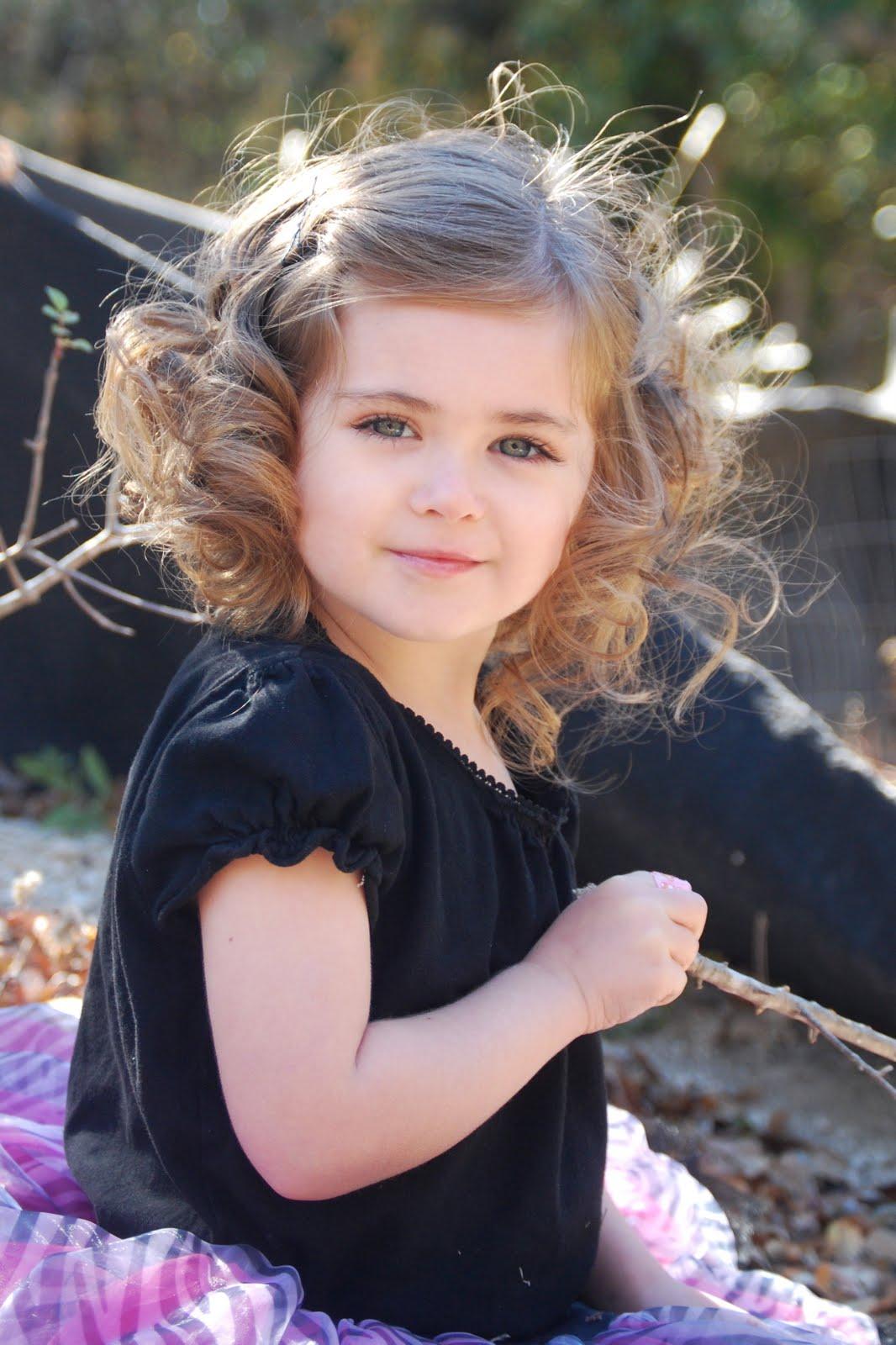 Artistically Beautiful Little Girl Curls