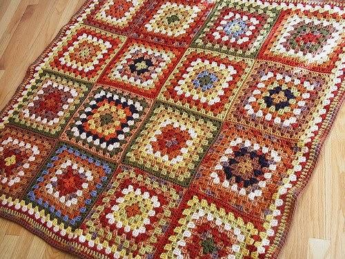 Ideas por aqu ideas por all cuadrados al crochet - Mantas de ganchillo faciles ...