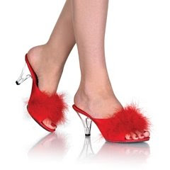 Heel Fur Sandal