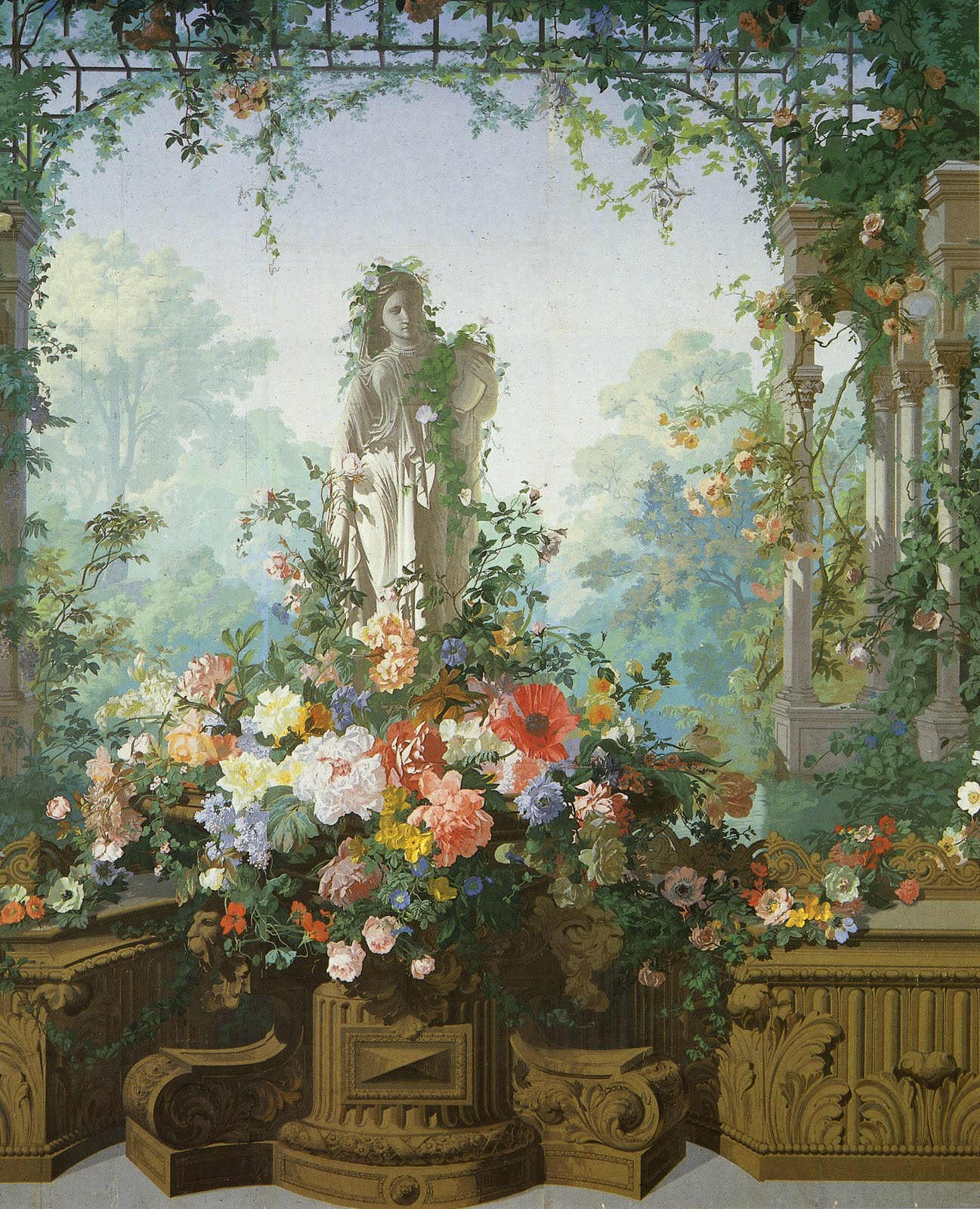 cityzenart: 19th Century French Scenic Wallpapers