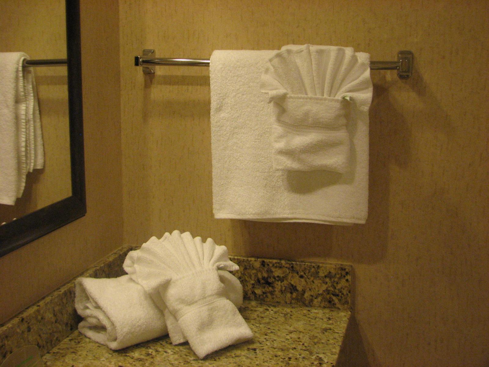 Fancy Folded Hand Towels Home Design 2017