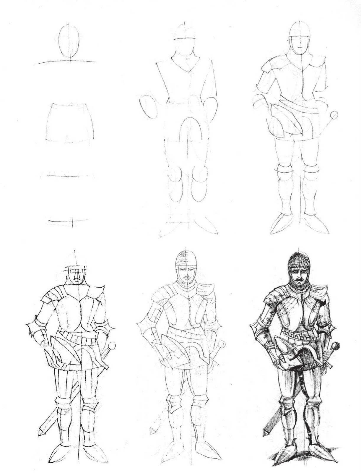 Рисунки карандашом рыцарей 20 фотография