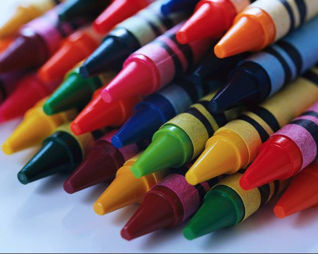 coloring book and crayola crayons