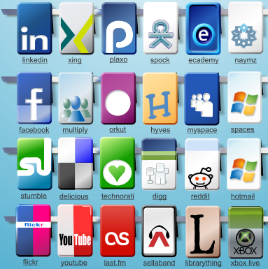 13 free social bookmark icons for your blogs