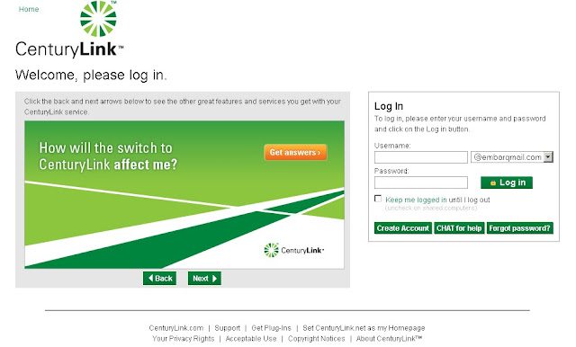 how to login to embarq mail website embarqmail