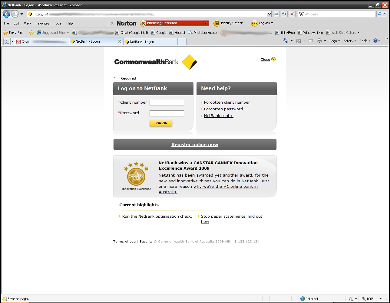 Logon To Commonwealth Netbank Online Banking From Netbank Com Au Website Letmeget Com
