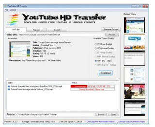 YouTube HD Transfer 1.1.14