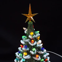 Dark Horse Discoveries New Lighted Ceramic Christmas Trees