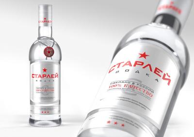 酒とウオッカのパッケージングとボトルデザイン