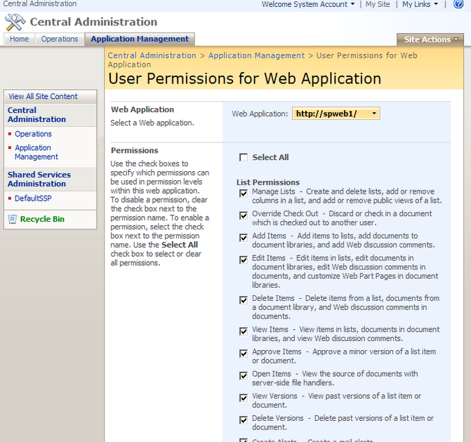 how to change permissions access folders