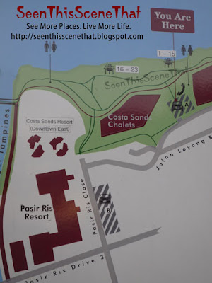Map of Pasir Ris Park BBQ Pits 1 to 23
