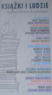 Książki i ludzie. Rozmowy Barbary N. Łopieńskiej.
