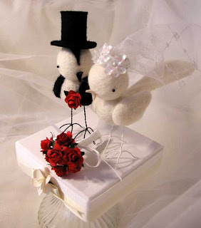 bird wedding cake topper
