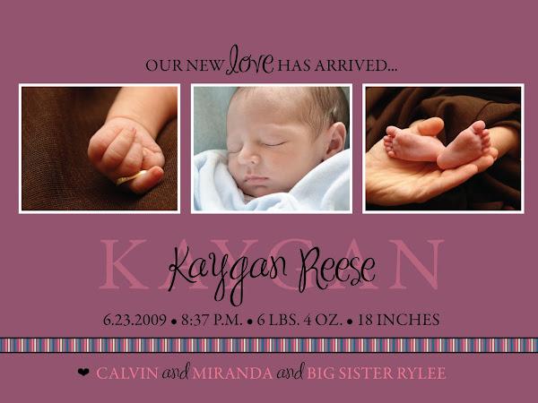 Kaygan's Birth Announcement