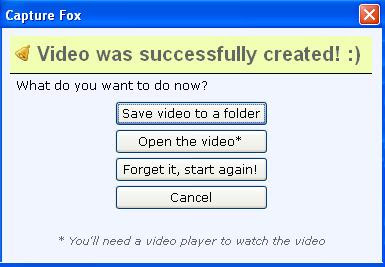 How to capture screenshot videos using Capture Fox Addon 2