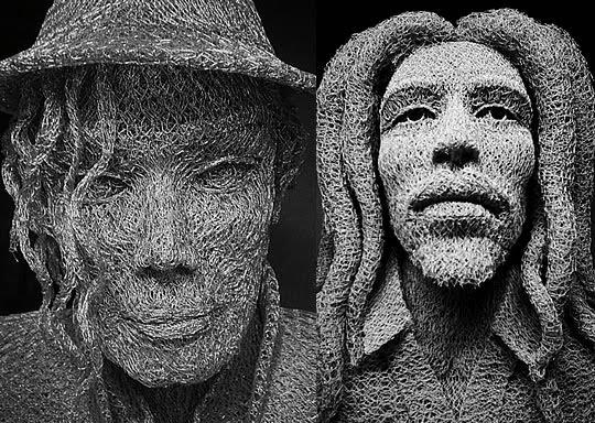 Esculturas com Arame feitas por Ivan Lovatt - 04
