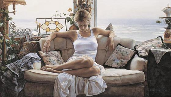 A sensualidade feminina nas pinturas de Steve Hanks - 07