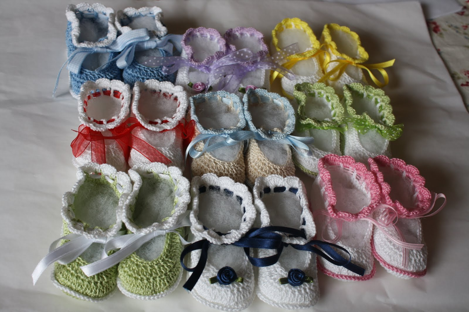EL RINCON DE MERY: zapatitos bebe a crochet