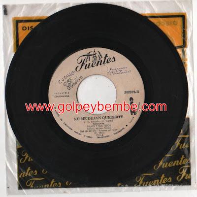 45 rpm Fruko - Sello Fuentes