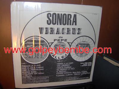 Sonora Veracruz de Pepe Vallejo - Casate Conmigo Back