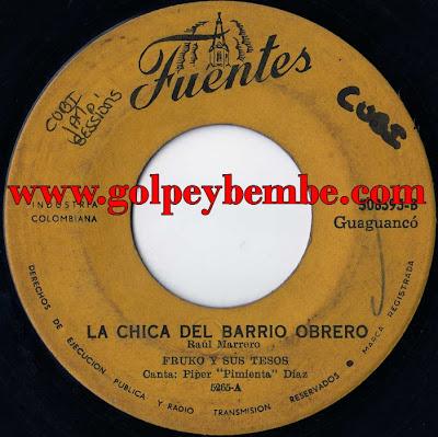 Fruko Vocal Piper Pimienta Diaz - 45 Rpm  (Fuentes)