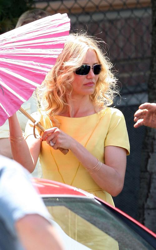 cameron diaz the mask red dress. Cameron Diaz was spotted on