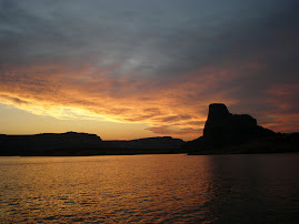 Sunset on Lake Powell