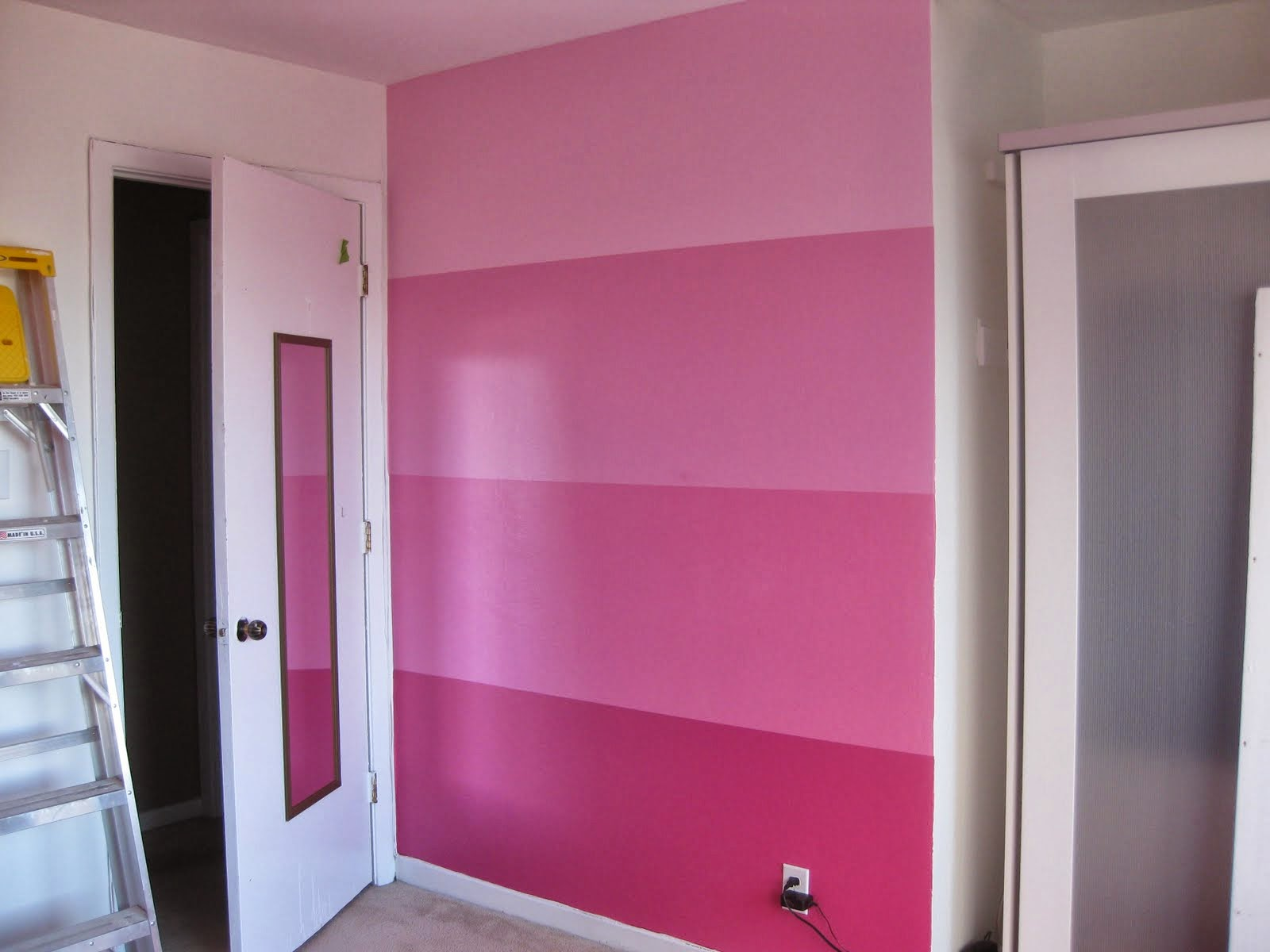 Different Shades of Pink Paint