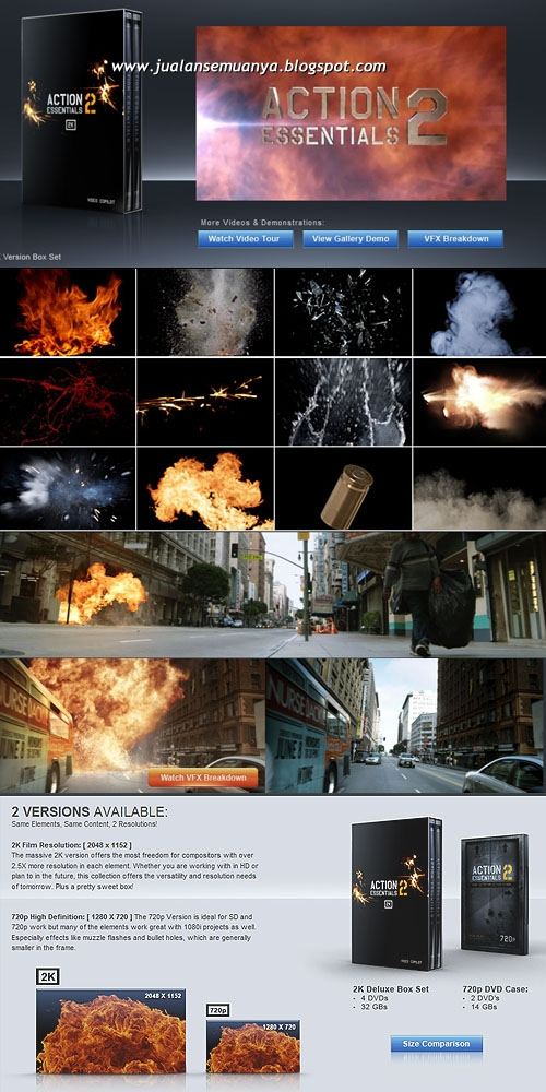 Action Essentials 2 is a collection of stock footage elements for compositi