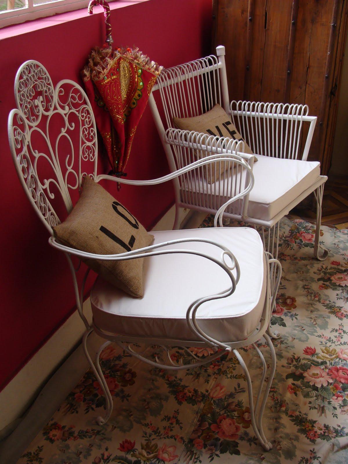 Sillones en hierro forjado deco marce tienda - Sillones antiguos restaurados ...