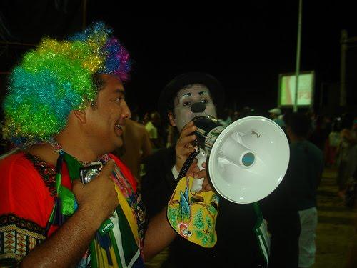 Dois palhaços se encontram na TEIA 2010 - Fortaleza/CE
