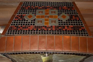 Detail of Custom Hood tile layout