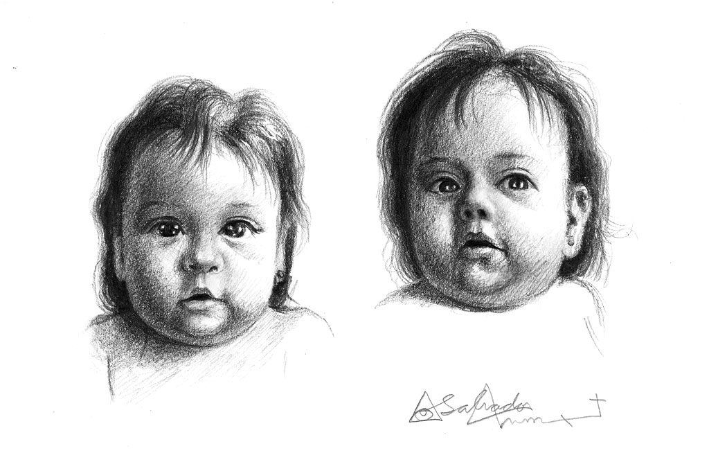 Clases de Arte  El Blog Cmo dibujar el rostro de un beb
