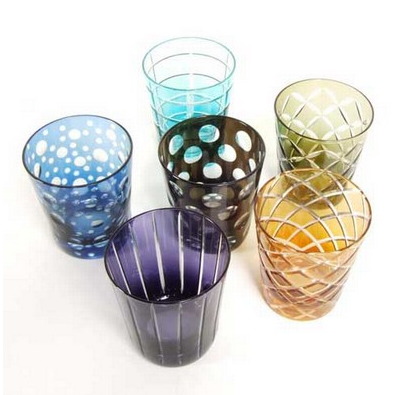 Save the date i bicchieri for Bicchieri colorati vetro