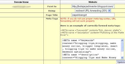 Setting Custom Domain Blogspot dari Name.com