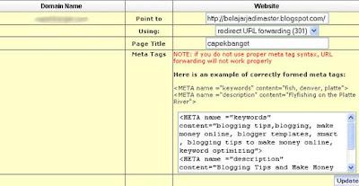 Setting Custom Domain Blogspot dari Name.com