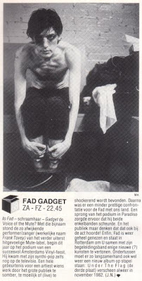 Fad Gadget - Ad Nauseam (live In Rotterdam April 1984)