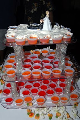 The Jello-shots Wedding Cake