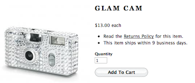 Rhinestone Disposable Wedding Cameras