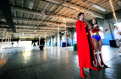 Tony and Sarah's big superhero wedding