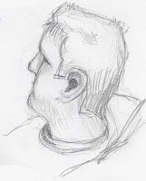 pencil sketch male profile