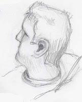 pencil sketch male profile