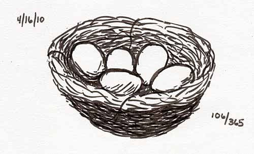 how to draw a nest