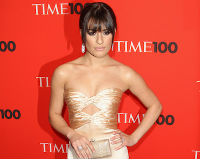 Lea Michele hair style celebrity