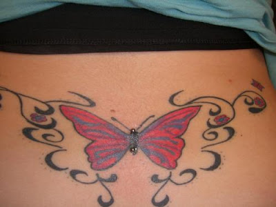 Back Butterfly With Surface Piercing