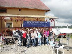 Fotografie de grup si expozitia cu echipamentele donate de Fundatia Dinu Patriciu