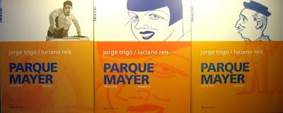 Livros - Capas dos 3 volumes da obra Parque Mayer