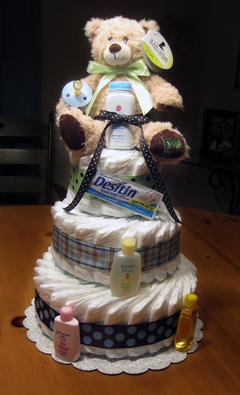 Small 3 Tier SGD Diaper Cake