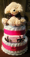 Think Pink Large 2 Tier SGD Diaper Cake